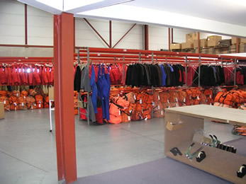 USAP clothing room