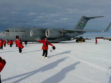 Landing at McMurdo Station