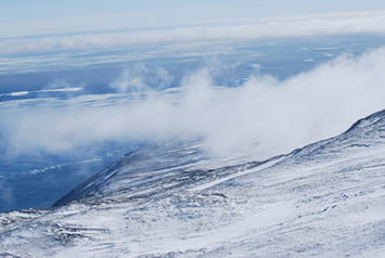 Cape Adare fog