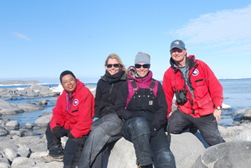 The field team on Inexpressible Island